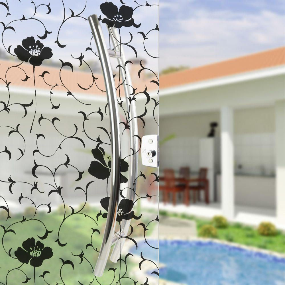 Película Adesivo Eletrostática Estática 3D Vidro Orquídea