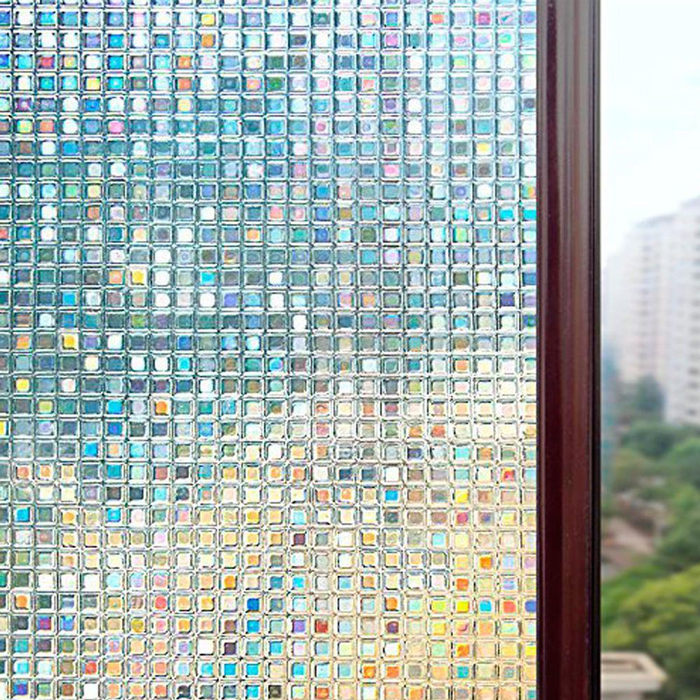 Película Adesivo Eletrostática Estática 3D Vidro Pastilhas
