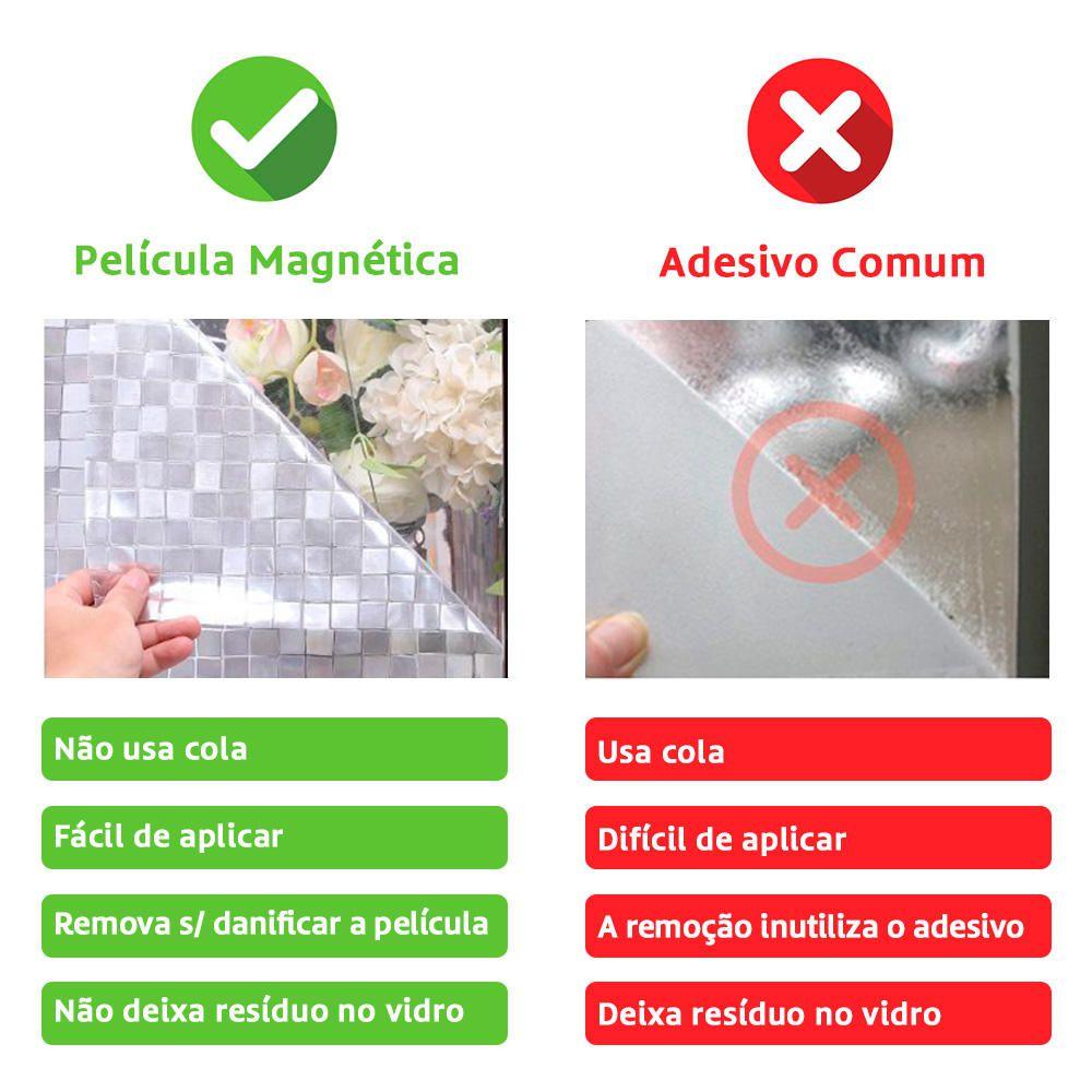 Película Adesivo Eletrostática Estática Vidro Jateado  - Magma Br