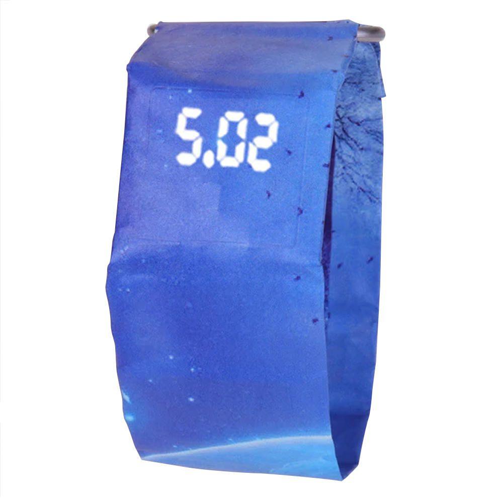 Relógio Pulso Papel Leve LED Digital À Prova D água Azul