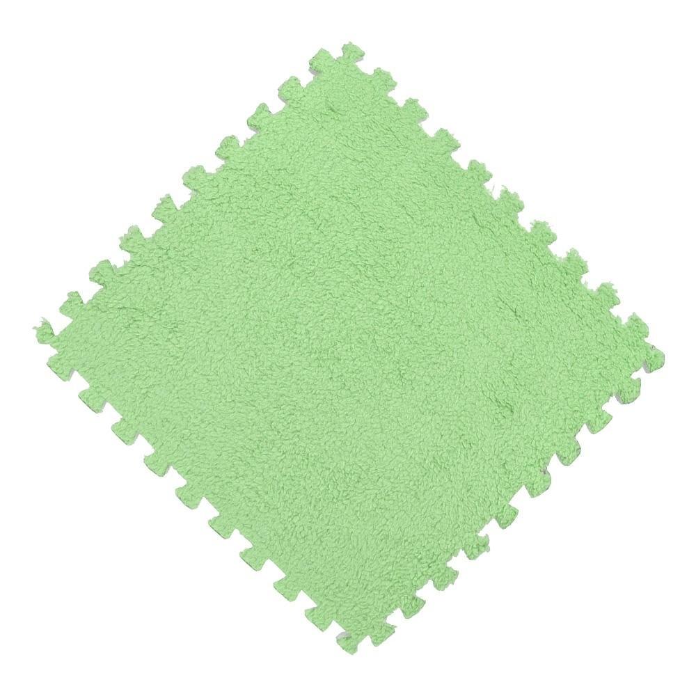 Tatame EVA Pelúcia Macia Piso Quebra Cabeça 30x30cm Verde