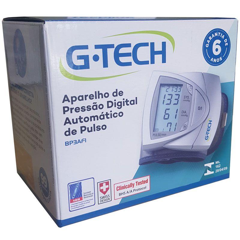 Aparelho de Pressão Digital de Pulso G Tech - BP3AF13