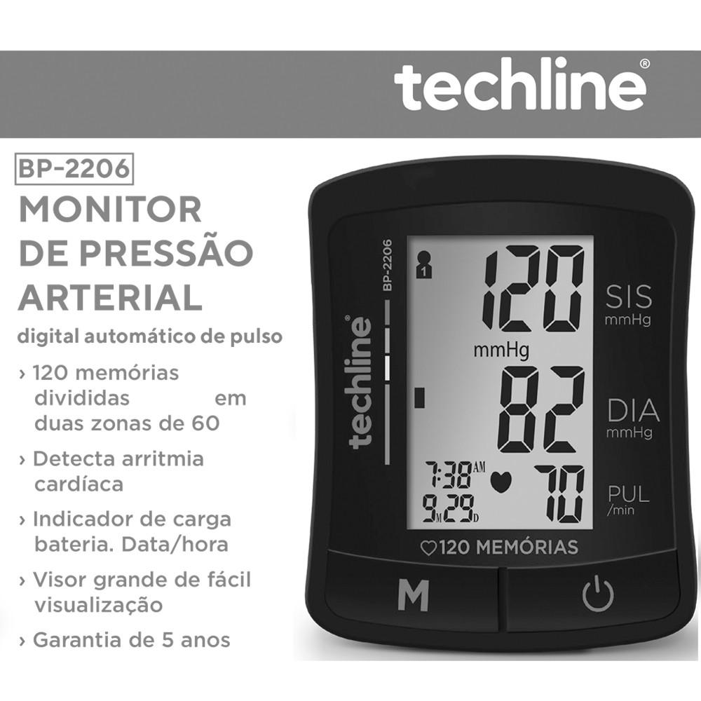 Aparelho de Pressão Digital de Pulso Techline - BP2206