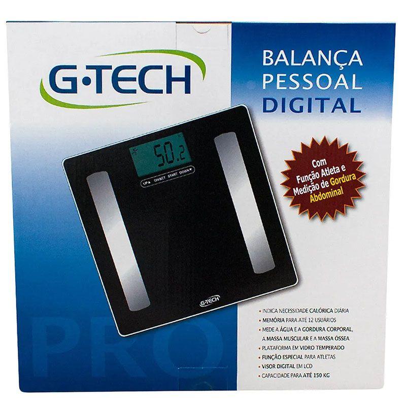 Balança com Bioimpedância G Tech Pro - GTECHPRO
