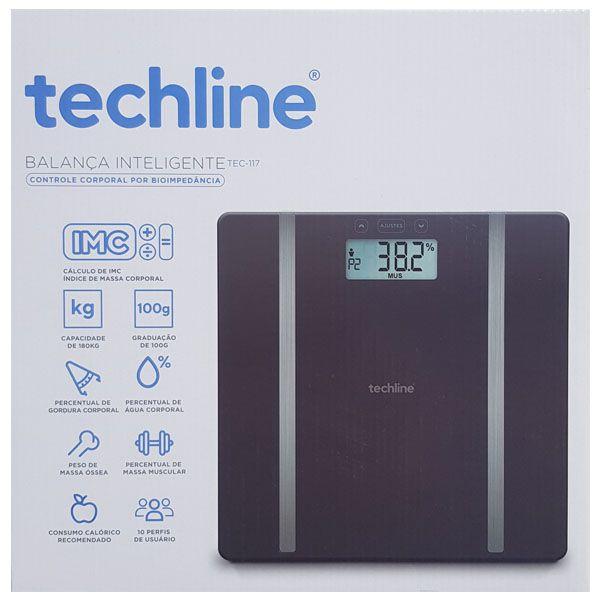 Balança com Bioimpedância Techline - TEC117