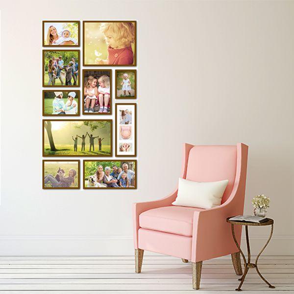 10 molduras COM Revelação Fotográfica (60cm X 105cm)