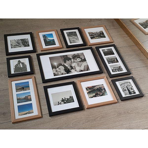 11 molduras COM Passe-partout + Revelação fotográfica (90cm X 75cm)