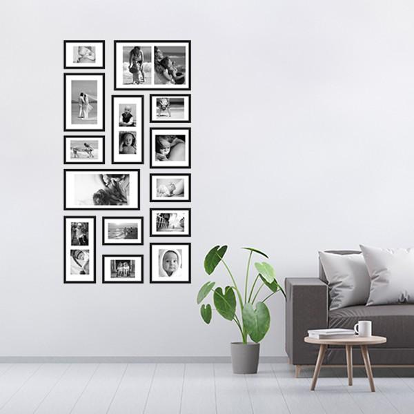 14 molduras COM revelação fotográfica (70cm X 135cm)