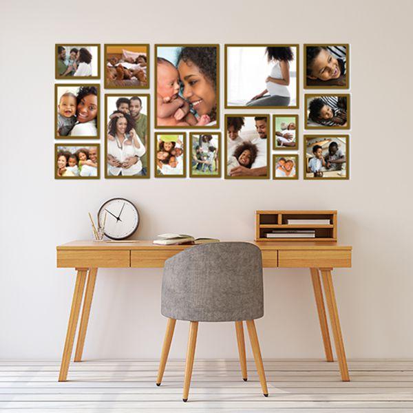 15 molduras COM Revelação Fotográfica (150cm X 70cm)