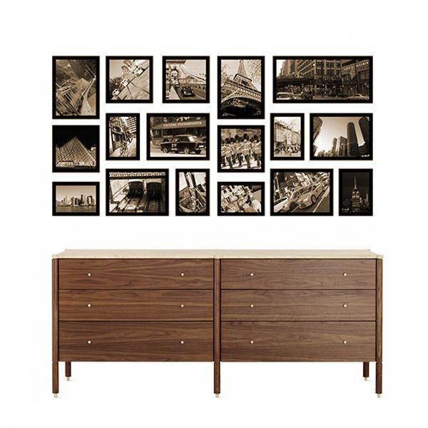 17 molduras COM revelação fotográfica (120cm X 60cm)