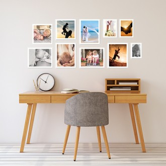 10 Molduras COM Revelação Fotográfica (120cm x 50cm)