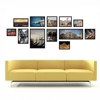 12 molduras COM Revelação Fotográfica  (200cm X 75cm)