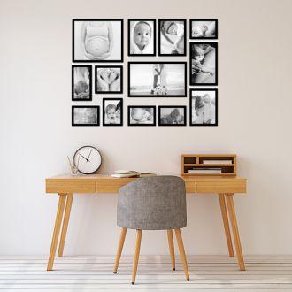 13 molduras com revelação fotográfica (100cm x 70cm)