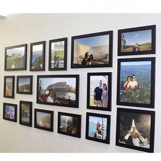 16 molduras COM Revelação Fotográfica (140cm x 70cm)