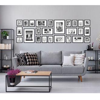25 molduras COM Passe-partout +  Revelação Fotográfica (220cm x 70cm)