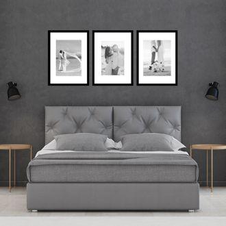 3 Molduras 45x60 COM revelação fotográfica (135cm X 60cm)