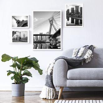 4 Molduras COM Revelação Fotográfica (115cm X 75cm)