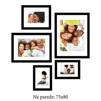 5 Molduras  COM revelação fotográfica (75x80)