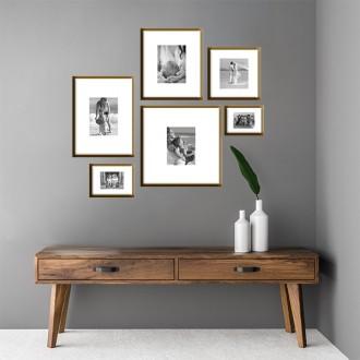 6 Molduras COM Passepartout e Revelação Fotográfica (100cm x 90cm)