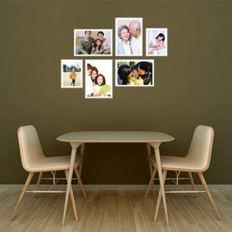 6 molduras COM Revelação Fotográfica  (90cm X 70cm)