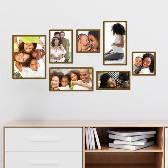 7 Molduras COM Revelação Fotos (140cm X 70cm)