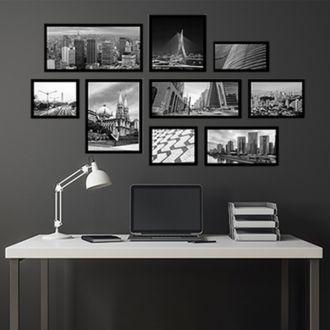 9 Molduras COM Revelação Fotográfica (160cm x 85cm)