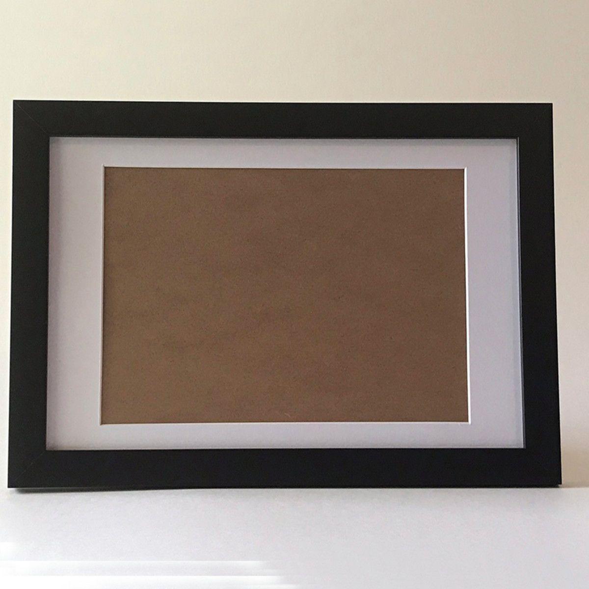 3 Molduras para arte/foto A4 com vidro e passepartout