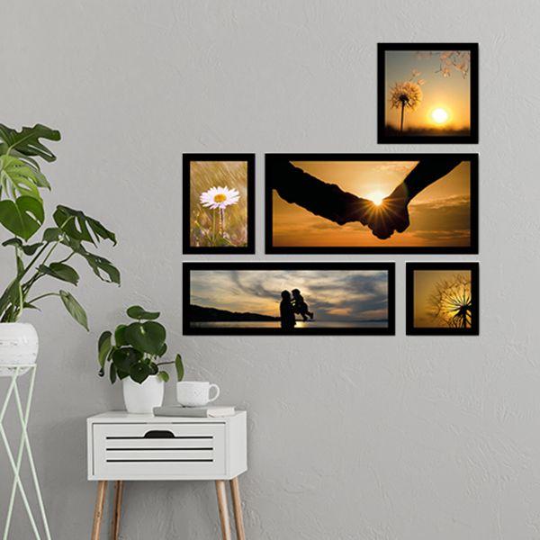 5 Molduras  COM revelação fotográfica (55cm X 55cm)
