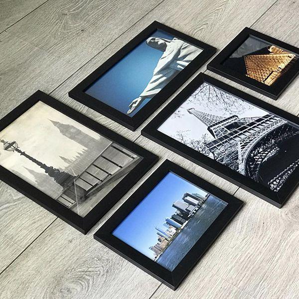5 Molduras  COM revelação fotográfica (70cm X 60cm)