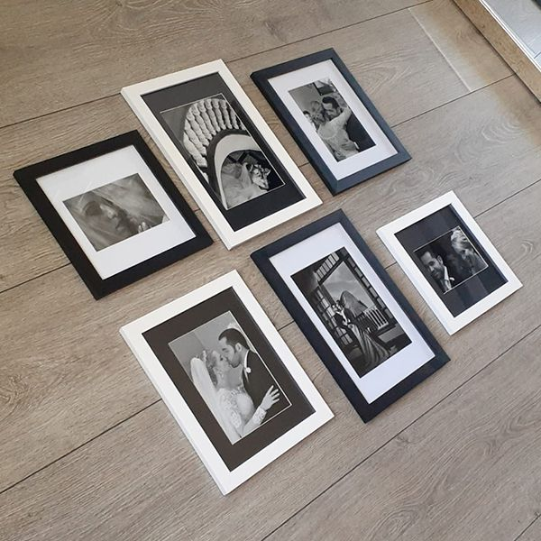 6 Molduras COM Passe-Partout e Revelação Fotográfica (75x70)