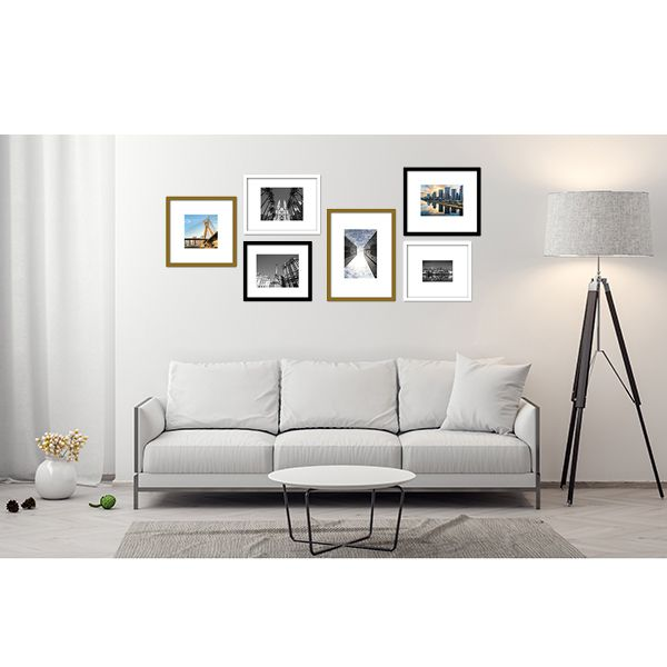 6 molduras COM revelação fotográfica (180cm X 80cm)