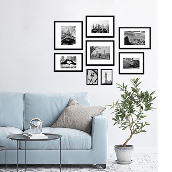 8 Molduras COM revelação fotográfica + Passepartout (140cm X 100cm)