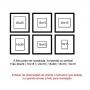10 Molduras 30x30 COM Passe-partout e Revelação Fotográfica