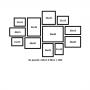 12 molduras  COM Revelação Fotográfica (145cm X 90cm)