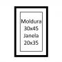 Molduras 30x45 com passe-partout para foto 20x35
