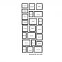 22 molduras COM Revelação Fotográfica (60cm X 140cm)