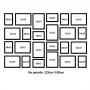 24 Molduras COM Revelação Fotográfica (125cm x 80cm)