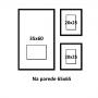 3 Molduras COM Revelação Fotográfica (65cm X 65cm)