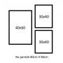 3 Molduras  COM revelação fotográfica (80cm X 90cm)