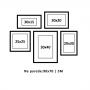 5 molduras COM Revelação Fotográfica (90cm X 70cm)