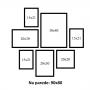 7 Molduras COM Revelação Fotográfica (90cm X 80cm)