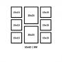 8 Molduras COM Revelação Fotográfica (65cm X 60cm)