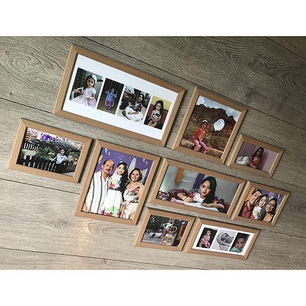 9 molduras COM revelação fotográfica (120cm X 65cm)