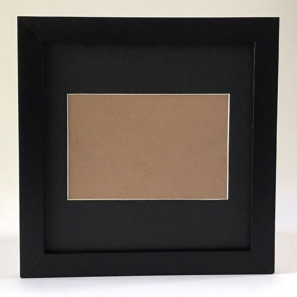Moldura 20x20  COM Passe-Partout Preto para foto 10x15