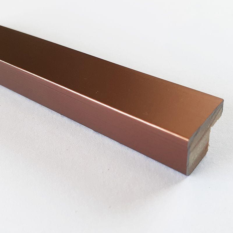 Moldura para arte 21x29 com vidro - Rose Gold