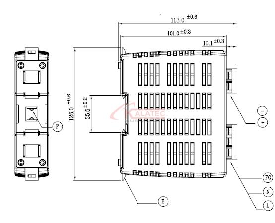 DRPO24V0601AZ - Fonte de Alimentação Chaveada -Trilho DIN - 24VDC - 2.5A