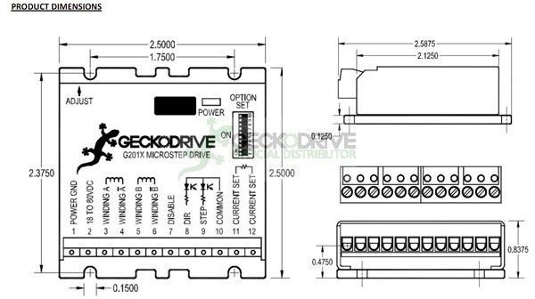 G201X - DRIVE DE 7.0A PARA MOTOR DE PASSO