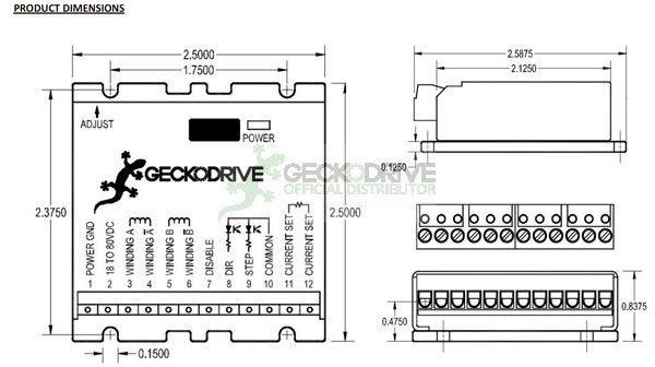 G213V - DRIVE DE 7.0A - MULTI RESOLUÇÃO / PROTEÇÃO PARA MOTOR DE PASSO
