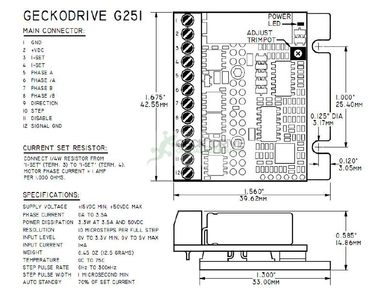 G251X - DRIVE DE 3.5A PARA MOTOR DE PASSO