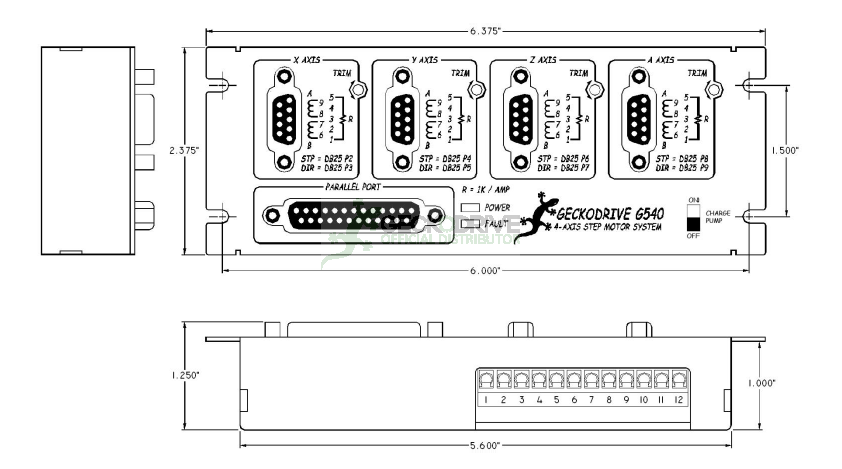 G540 - CONTROLADORA E DRIVES PARA 04 MOTORES DE PASSO